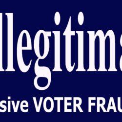 Illegitimate Joe Bumper Sticker- Anti Joe Biden Bumper Sticker